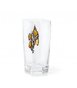 Wazon szklany zdobiony...