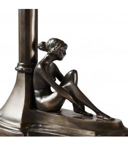 Lampa z burszynem na biurko...